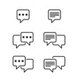 set of chat and speech bubble line icons vector image vector image