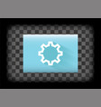 settings icon vector image vector image