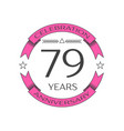 seventy nine years anniversary celebration logo