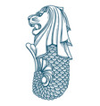singapore merlion icon vector image vector image