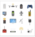 Smart house remote control electronic gadgets vector image vector image
