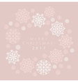 snowflake winter card of header in gentle feminine vector image vector image