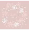 Snowflake winter card of header in gentle feminine vector image