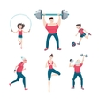 sport family isolated on white icon set vector image