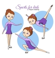 Sports for kids Figure skating vector image