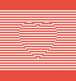 stripes heart valentines day background il vector image vector image