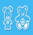 Teddy bear and dog vector image vector image