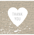 thank you retro card vector image vector image