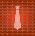 tie sign whitish icon on vector image vector image