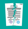 torn in half contract document vector image vector image