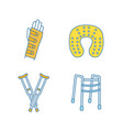 trauma treatment color icons set vector image vector image