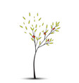 tree background with green leaves vector image