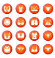 underwear types icons set red vector image vector image
