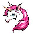 unicorn pink vector image vector image