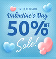 valentines day shopping sale invitation poster vector image vector image