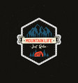 Vintage camp patches logo mountain life badge