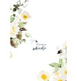 watercolor card with delicate anemones vector image vector image