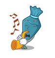 with trumpet pastrybag mascot cartoon style vector image vector image
