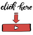 youtube channel icons lettering set vector image