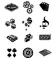 gamble icons set vector image