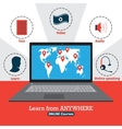 Infographic of online courses Learn from anywhere vector image