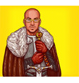pop art of a medieval knight vector image