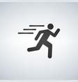 runnin man icon on white background fitness vector image