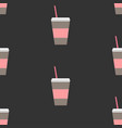 seamless repeating pattern with coffee cup on vector image