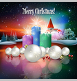 Abstract Christmas with silhouette of castle and vector image vector image