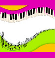 abstract music background rainbow paper and piano vector image vector image