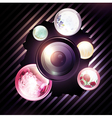 abstract photographer background vector image