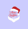 abstract santa claus merry christmas logo icon vector image