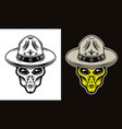 alien head in boy scout hat two styles vector image vector image