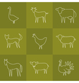 Animal icons set vector image