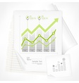 Arrow up diagrams on paper vector image vector image