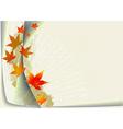 Autumnal leaf background vector image