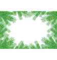 background with christmas trees branches vector image vector image