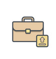 bag briefcase business portfolio suitcase vector image