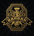 barber shop hair salon hair stylist vintage logo vector image vector image
