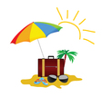 beach stuff color on a white background vector image