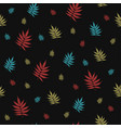 beautiful seamless pattern with falling leaves vector image