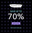black friday sale web banner design template vector image vector image