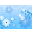 Blue floral background flower vector image vector image