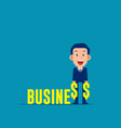 businessman with financial investor concept vector image vector image