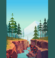 canyon background natural landscape vector image