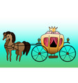 carriage for princess for kids vector image