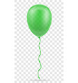 celebratory green transparent balloon pumped vector image vector image