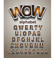 christmas alphabet font to use for children vector image vector image
