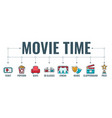 cinema and movie typography banner vector image vector image