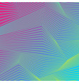 colorful curved lines refraction pattern design vector image